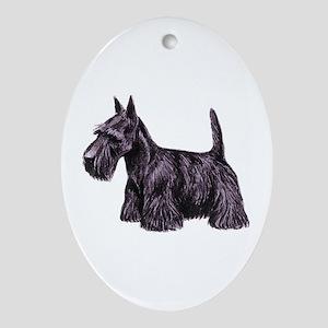 Scottish Terrier Oval Ornament