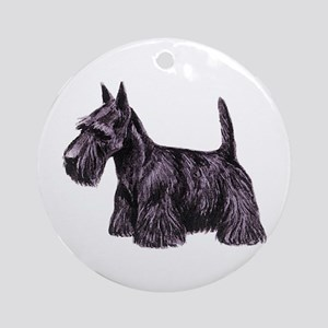 Scottish Terrier Round Ornament
