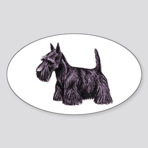 Scottish Terrier Sticker (Oval)