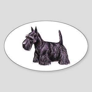 Scottish Terrier Sticker (Oval)