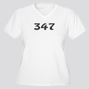 347 Area Code Women's Plus Size V-Neck T-Shirt
