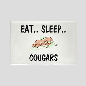 Eat ... Sleep ... COUGARS Rectangle Magnet