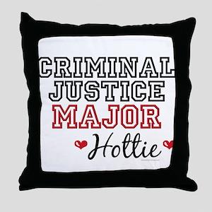 Criminal Justice Major Hottie Throw Pillow