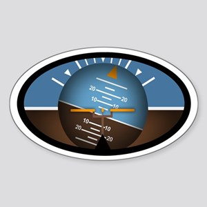 Artificial Horizon Euro Oval Sticker