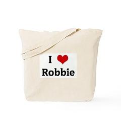 I Love Robbie Tote Bag