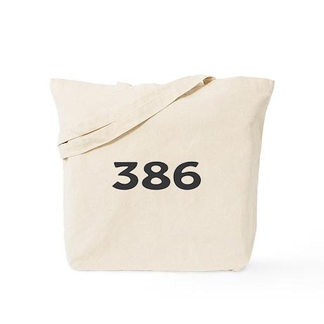 386 Area Code Tote Bag