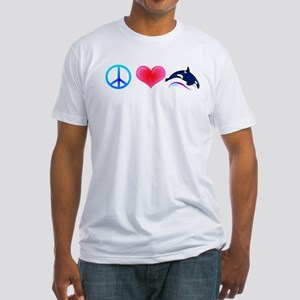 Peace Love Orca Fitted T-Shirt