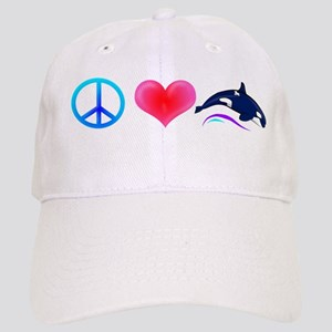 Peace Love Orca Cap