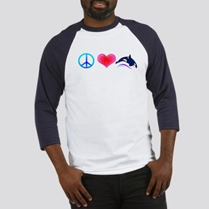 Peace Love Orca Baseball Jersey