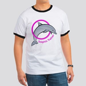 Dolphin Trainer Pink Ringer T