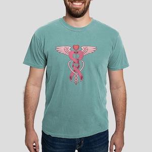 Pink Ribbon Caduceus Women's Dark T-Shirt