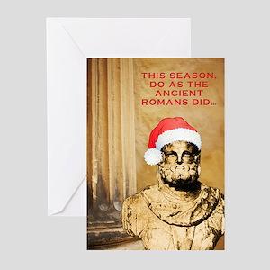 Atheist greeting cards cafepress saturnalia greeting cards pk of 10 m4hsunfo