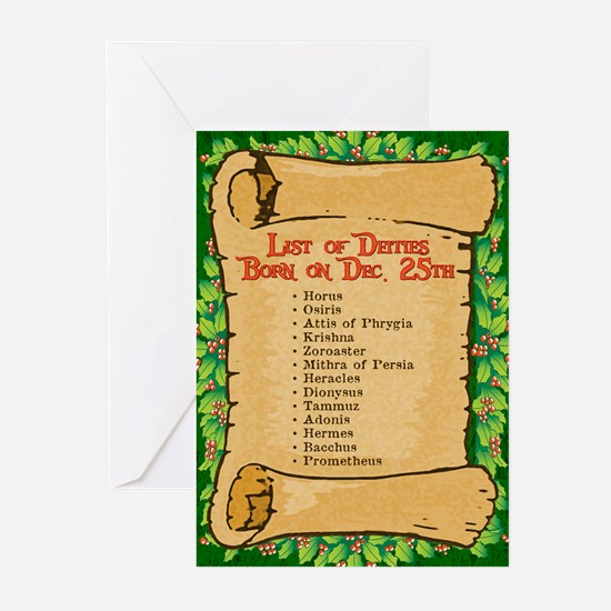 Born on Dec. 25th Greeting Cards (Pk of 10)