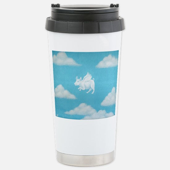 """""""Pigs are Flying!"""" Stainless Steel Travel Mug"""