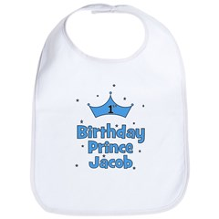 1st Birthday Prince Jacob! Bib