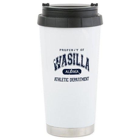 Property of Wasilla Athletic Stainless Steel Trave