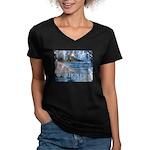Waikiki Hawaii Women's V-Neck Dark T-Shirt