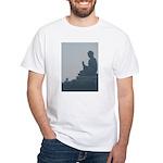 grey buddah White T-Shirt