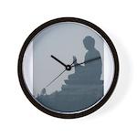 grey buddah Wall Clock
