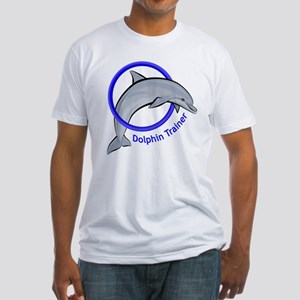Dolphin Trainer Blue Fitted T-Shirt