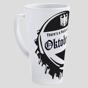 Oktoberfest Party in the Haus 17 oz Latte Mug
