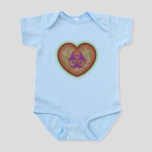 Biohazard Heart Infant Bodysuit