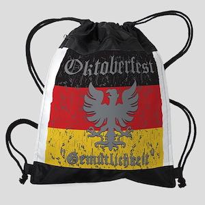 Oktoberfest Gemutlichkeit Drawstring Bag