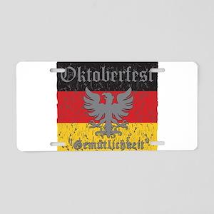 Oktoberfest Gemutlichkeit Aluminum License Plate