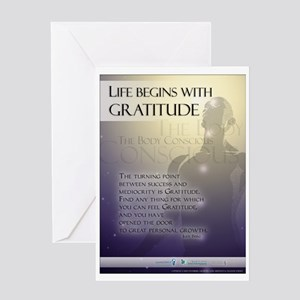 Life Begins with Gratitude Greeting Card