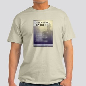 Life Begins with Gratitude Light T-Shirt