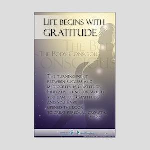 Life Begins with Gratitude Mini Poster Print