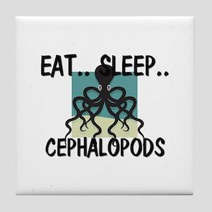 Eat ... Sleep ... CEPHALOPODS Tile Coaster
