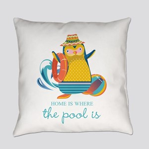 Home is Where the Pool is Everyday Pillow