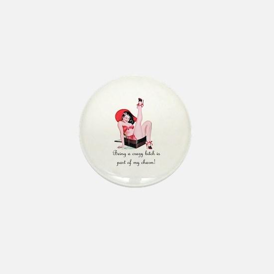 Crazy Bitch Mini Button