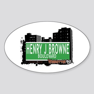 HENRY J BROWNE BOULEVARD, MANHATTAN, NYC Sticker (