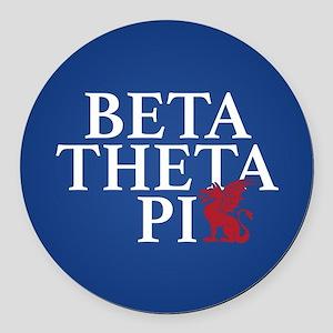 Beta Theta Pi Dragon Round Car Magnet