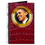 Obama Gold Seal Journal (burgundy alligator)