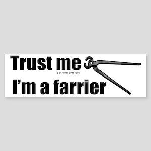 Trust me I'm a farrier Sticker (Bumper)