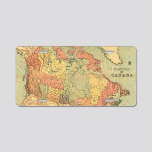 Vintage Map of Canada (1898 Aluminum License Plate