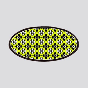 Chartreuse Ornate Flowers Pattern Patch