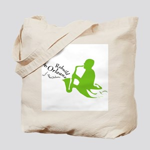 Jazzy Rebuild New Orleans Tote Bag