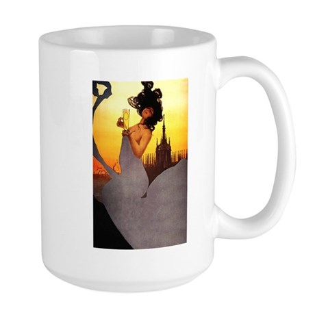 Grey Gown Large Mug
