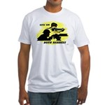 Give 'em Both Barrels Fitted T-Shirt