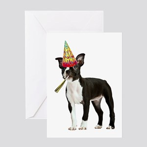 Boston Terrier Birthday Greeting Card