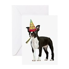 Boston Terrier Birthday Greeting Card