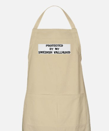 Protected by Swedish Vallhund BBQ Apron