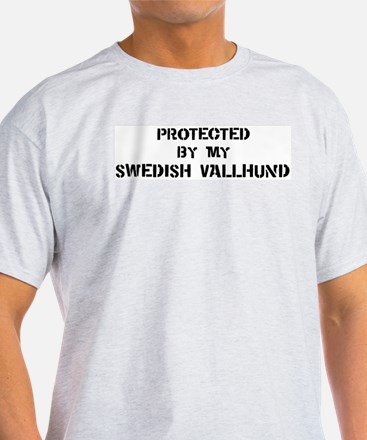 Protected by Swedish Vallhund T-Shirt