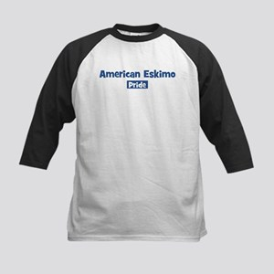 American Eskimo pride Kids Baseball Jersey