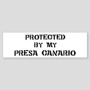 Protected by Presa Canario Bumper Sticker