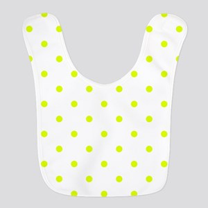 Chartreuse Small Polka Dots (Re Polyester Baby Bib